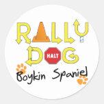 Boykin Spaniel Rally Dog Classic Round Sticker