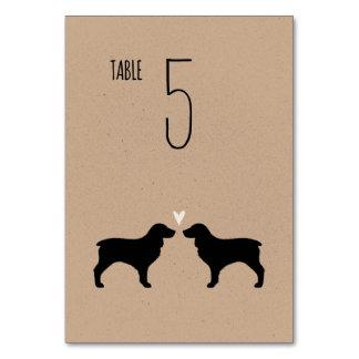 Boykin Spaniel Silhouettes Wedding Table Card