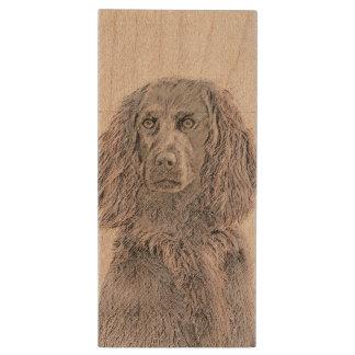 Boykin Spaniel Wood Flash Drive