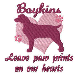 Boykins Leave Paw Prints Embroidered Shirt (Tee)