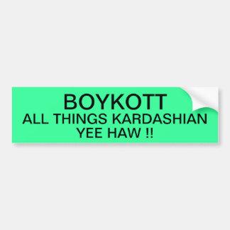 BOYKOTT todas las cosas kardashian Pegatina Para Auto
