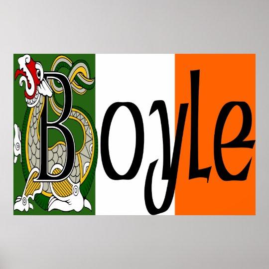 Boyle Celtic Dragon Poster Print