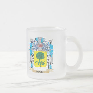 Boyle Coat of Arms 10 Oz Frosted Glass Coffee Mug