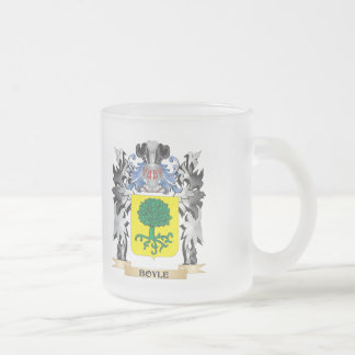 Boyle Coat of Arms - Family Crest 10 Oz Frosted Glass Coffee Mug