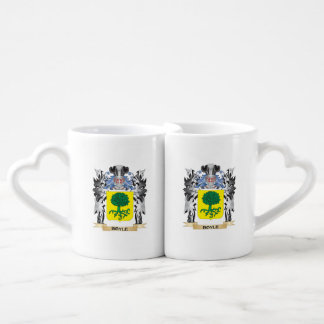 Boyle Coat of Arms - Family Crest Couples' Coffee Mug Set