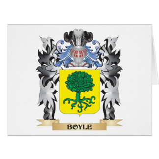 Boyle Coat of Arms - Family Crest Large Greeting Card