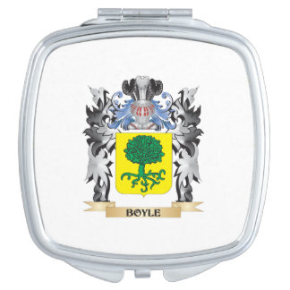 Boyle Coat of Arms - Family Crest Mirrors For Makeup