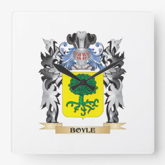 Boyle Coat of Arms - Family Crest Square Wallclocks