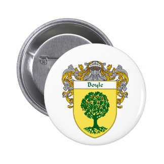 Boyle Coat of Arms (Mantled) Button
