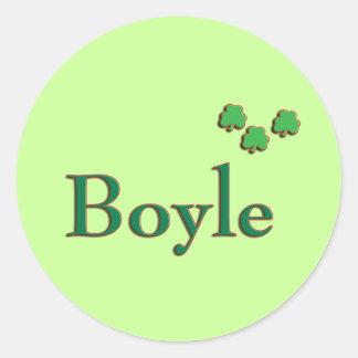 Boyle Family Classic Round Sticker
