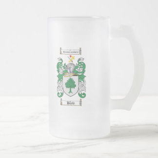 BOYLE FAMILY CREST -  BOYLE COAT OF ARMS 16 OZ FROSTED GLASS BEER MUG