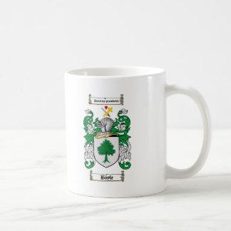 BOYLE FAMILY CREST -  BOYLE COAT OF ARMS CLASSIC WHITE COFFEE MUG
