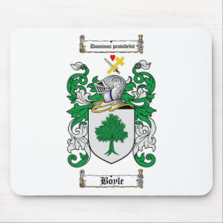 BOYLE FAMILY CREST -  BOYLE COAT OF ARMS MOUSE PAD