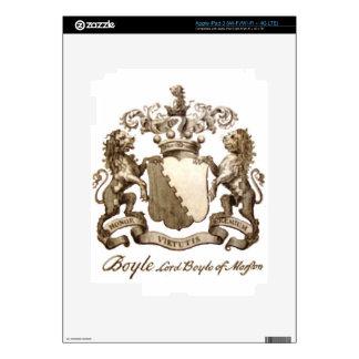 BOYLE FAMILY CREST iPad 3 DECALS
