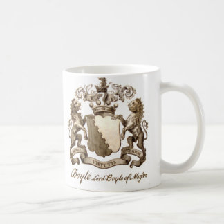 BOYLE FAMILY CREST CLASSIC WHITE COFFEE MUG