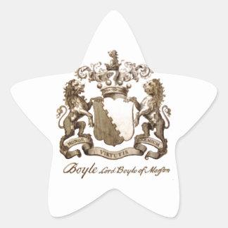 BOYLE FAMILY CREST STAR STICKER