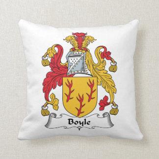 Boyle Family Crest Throw Pillow