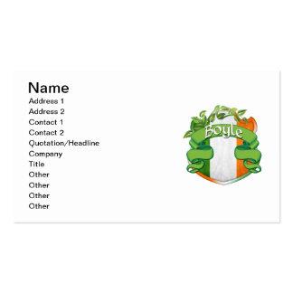 Boyle Irish Shield Business Card Template