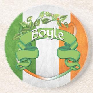 Boyle Irish Shield Drink Coaster