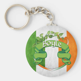 Boyle Irish Shield Keychain