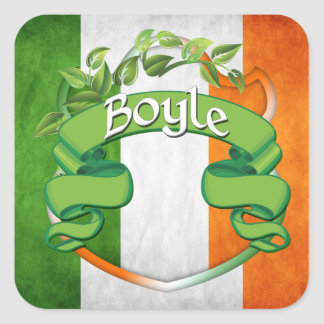 Boyle Irish Shield Square Sticker