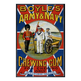 Boyles Army and Navy Chewing Gum 1890's Poster