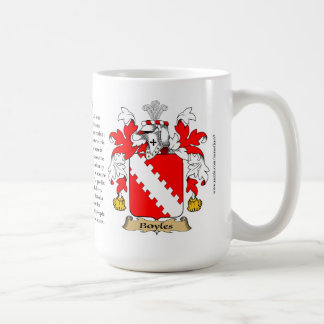 Boyles, the Origin, the Meaning and the Crest Classic White Coffee Mug