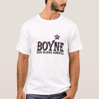"""Boyne - """"dios bendice América"""" patriótica Playera"""