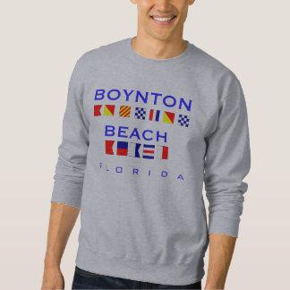 Boynton Beach, FL - Nautical Flag Spelling Sweatshirt