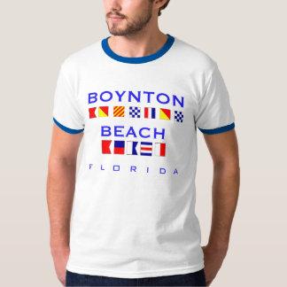 Boynton Beach, FL - Nautical Flag Spelling T-Shirt