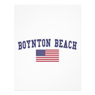 Boynton Beach US Flag Letterhead