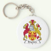 Boynton Family Crest Keychain
