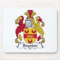 Boynton Family Crest Mousepad