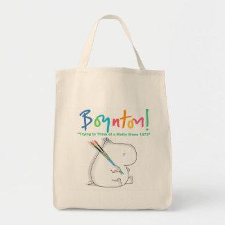 BOYNTON! HIPPO LOGO TOTE BAG