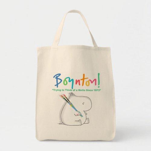 BOYNTON HIPPO LOGO TOTE BAG