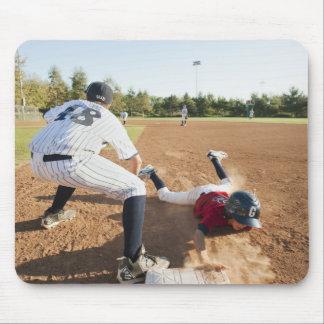 Boys (10-11) playing baseball mouse pad