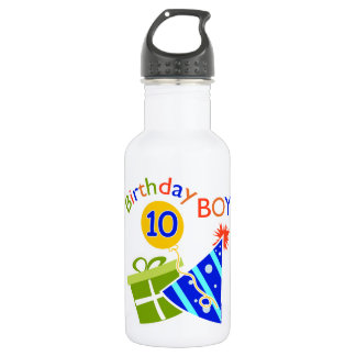 Boys 10th Birthday Stainless Steel Water Bottle