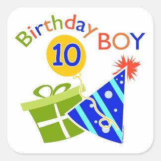 Boys 10th Birthday Stickers