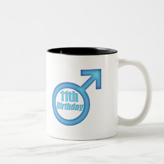 Boys 11th Birthday Gifts Two-Tone Coffee Mug