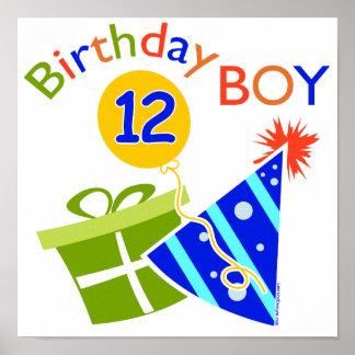 Boys 12th Birthday Poster