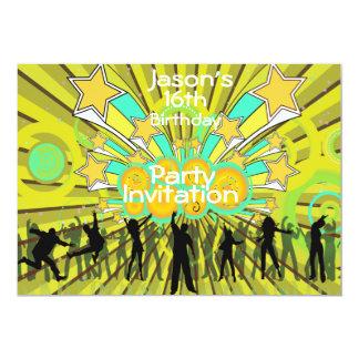 boys 16 birthday invitation