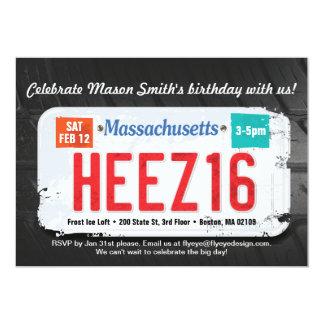 Boy's 16th Birthday Massachusetts Invitation