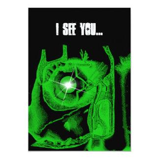 Boys 16th Birthday Party Cybergoth Skull Invitatio 5x7 Paper Invitation Card