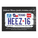 Boy's 16th Birthday Texas License Invitation