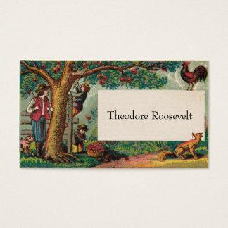Boy's 1800s Apple-Themed Social Calling Card