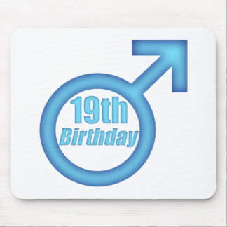 Boys 19th Birthday Gifts Mouse Pad