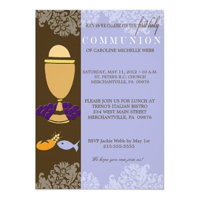 Boy's 1st Communion Invitation