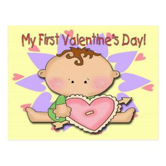 Boy's 1st Valentine's Day Postcard