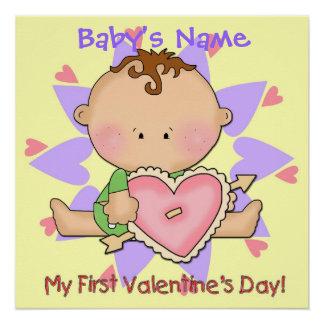 """Boy's 1st Valentine's Day Poster 20""""x20"""""""