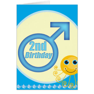 Boys 2nd Birthday Gifts Card
